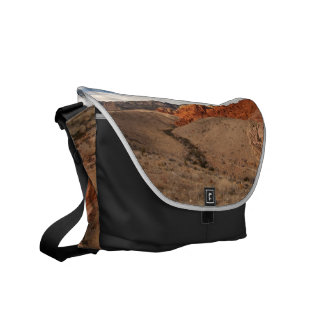 Brilliant Red Rocks; No Text Courier Bags