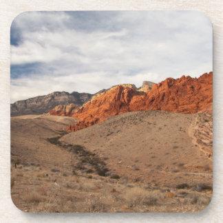 Brilliant Red Rocks; No Text Drink Coasters