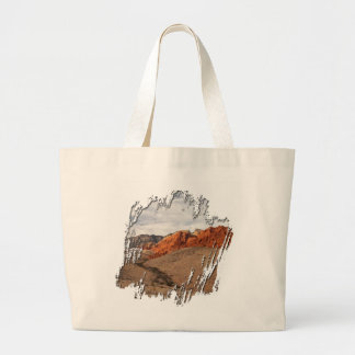 Brilliant Red Rocks; No Text Large Tote Bag