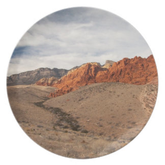 Brilliant Red Rocks; No Text Party Plates