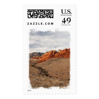 Brilliant Red Rocks; No Text Postage Stamps