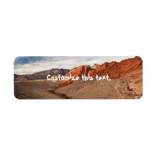 Brilliant Red Rocks Return Address Label