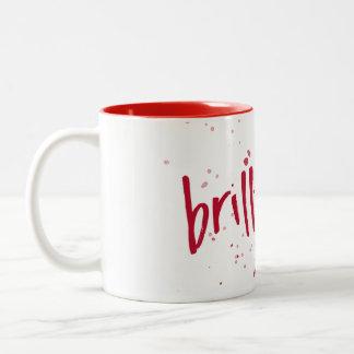 Brilliant Red Splash Two-Tone Coffee Mug