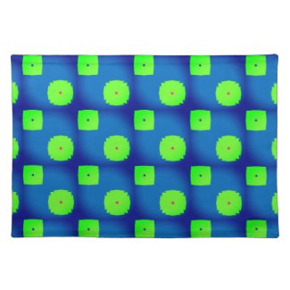 Brilliant Ricoleta Blue and Green Placemats