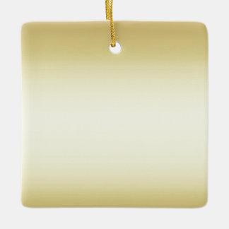 Brilliant shiny gold double sided ceramic ornament