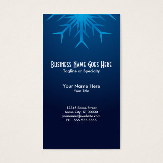 brilliant snowflake business card