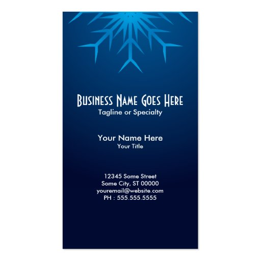 brilliant snowflake business card template