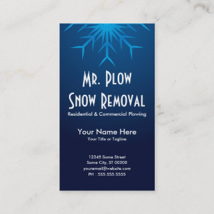 Snow removal business cards templates zazzle brilliant snowflake snow removal business card colourmoves