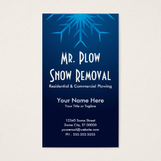brilliant snowflake snow removal business card