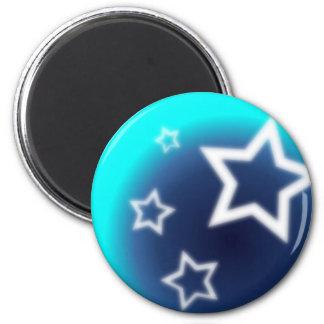 Brilliant Star 2 Inch Round Magnet