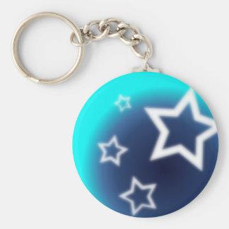 Brilliant Star Basic Round Button Keychain