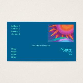 Brilliant Sun Business Card Template