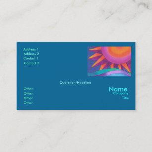 Pink sunset business cards zazzle brilliant sun business card template flashek Choice Image