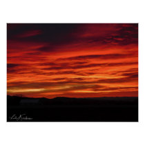 Brilliant Sunset in Western Colorado Poster