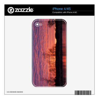 Brilliant sunset reflects into the Calamus River iPhone 4 Decal