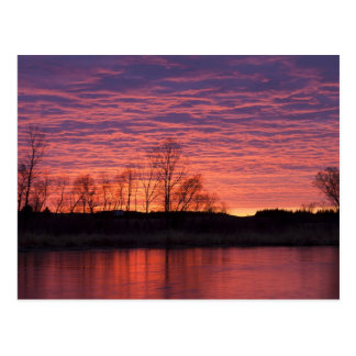 Brilliant sunset reflects into the Calamus River Postcards