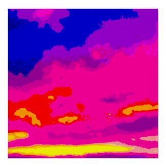 Brilliant sunset semigloss 20x20 poster wall art
