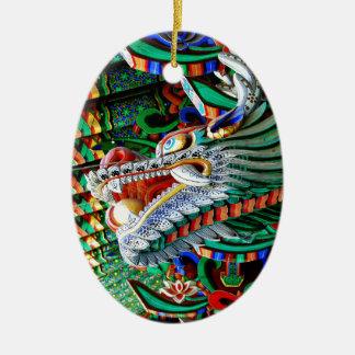 Brilliant Temple Dragon Ceramic Ornament