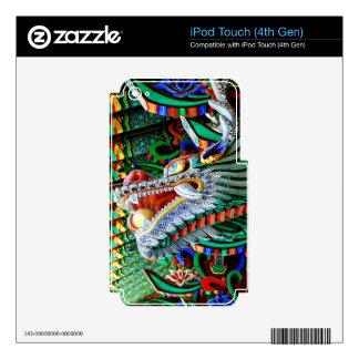 Brilliant Temple Dragon iPod Touch 4G Skin