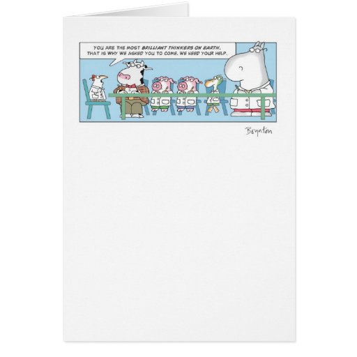 BRILLIANT THINKERS Greeting Card