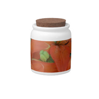 Brilliant Tiger Lily Candy Jar