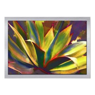 Brilliant Tropical Agave Plant Custom Announcements