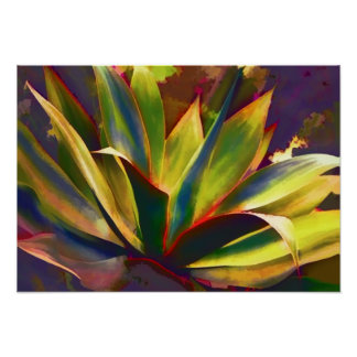Brilliant Tropical Agave Plant Print
