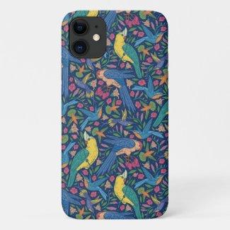 Brilliant Tropical Birds iPhone Case