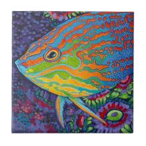 Brilliant Tropical Fish I Tile