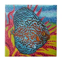 Brilliant Tropical Fish II Tile