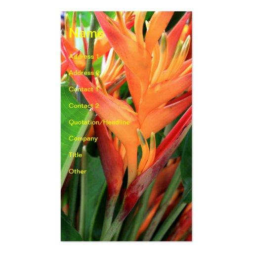 Brilliant Tropical Hawaiian Hibiscus Business Card