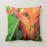Brilliant Tropical Heliconia Florals Pillows