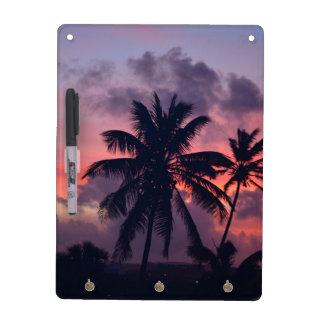 Brilliant Tropical Sunset Dry Erase Board