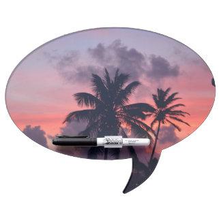 Brilliant Tropical Sunset Dry-Erase Whiteboard