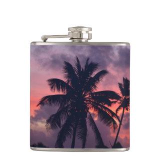 Brilliant Tropical Sunset Flask