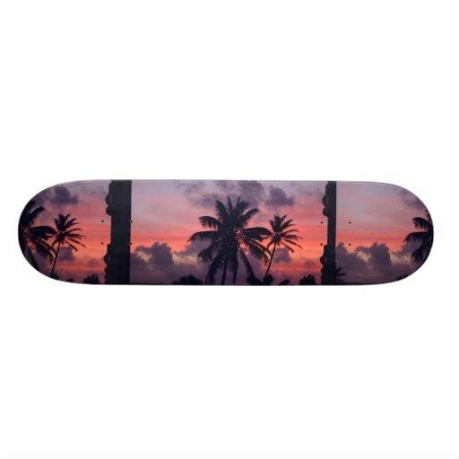 Brilliant Tropical Sunset Skate Decks
