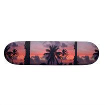 Brilliant Tropical Sunset Skateboard Deck