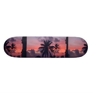 Brilliant Tropical Sunset Skateboard Deck