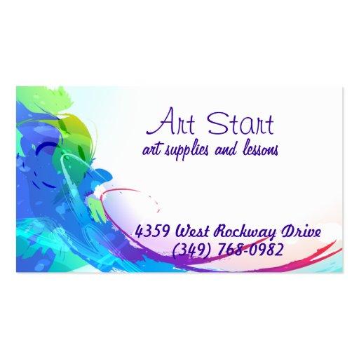 Brilliant watercolors business card zazzle for Brilliant business cards