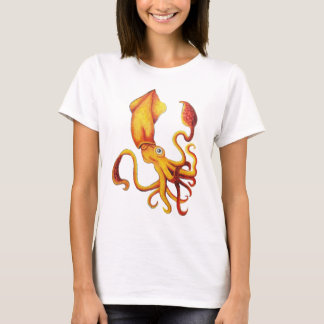 Brilliant Yellow Squid T-Shirts