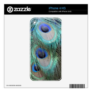 brilliantly marked peacock feathers eyes decal for the iPhone 4S