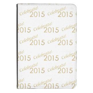 Brillo 2015 del oro del Año Nuevo en blanco Funda De Kindle Touch