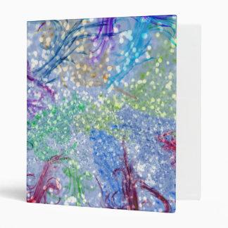"""Brillo abstracto azul de la acuarela colorida carpeta 1"""""""