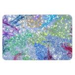Brillo abstracto azul de la acuarela colorida imanes de vinilo