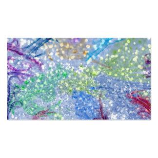Brillo abstracto azul de la acuarela colorida tarjetas de visita