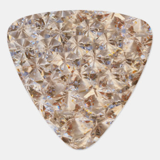 Brillo ambarino Bling de los cristales del diamant Uñeta De Guitarra