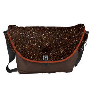 Brillo anaranjado de bronce oscuro bolsa de mensajería