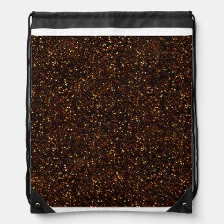 Brillo anaranjado de bronce oscuro mochilas