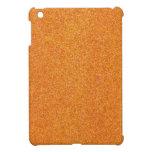 Brillo anaranjado de la calabaza que chispea iPad mini cárcasas
