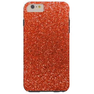 Brillo anaranjado de neón funda de iPhone 6 plus tough